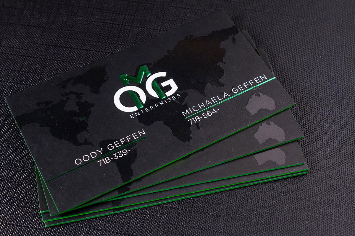 Luxury Printing 2-sided Spot UV Business Cards