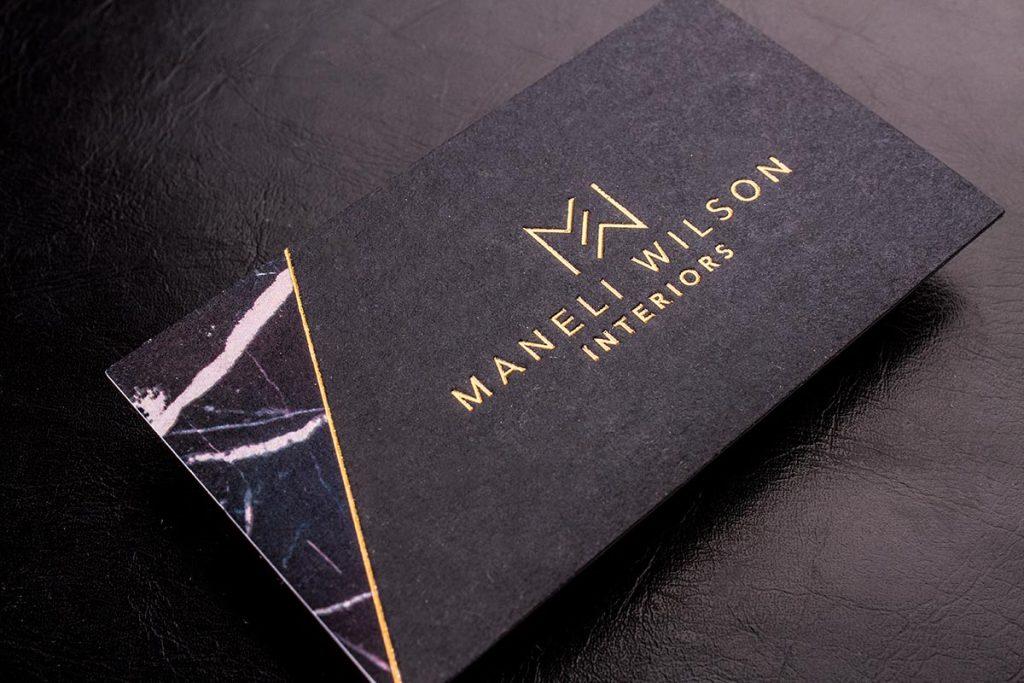 Black Business Cards Printing New York   Luxury Printing