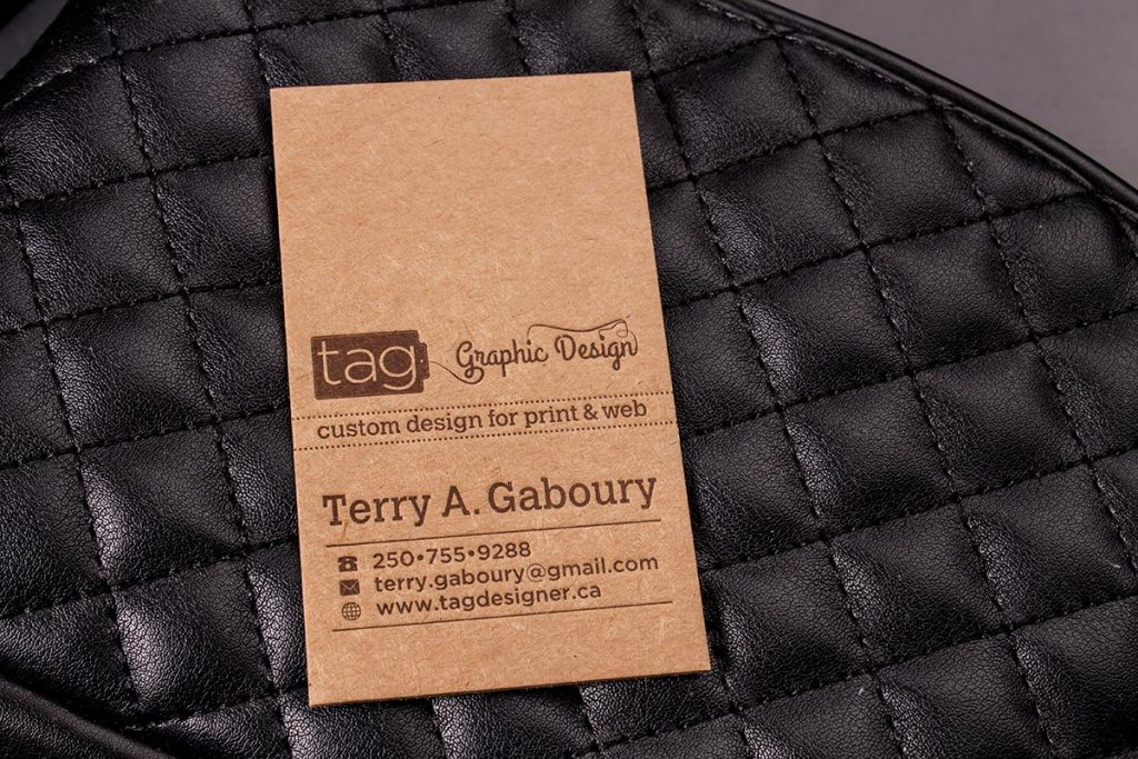 Brown Kraft Business Cards TAG | Luxury Printing