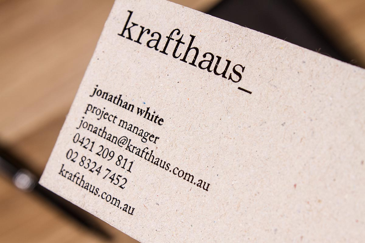 Luxury Printing Brown Kraft Business Cards