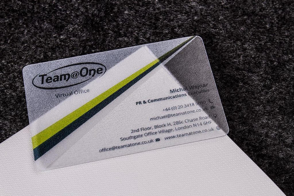 Clear Plastic Business Cards 3.5x2.5 | Luxury Printing