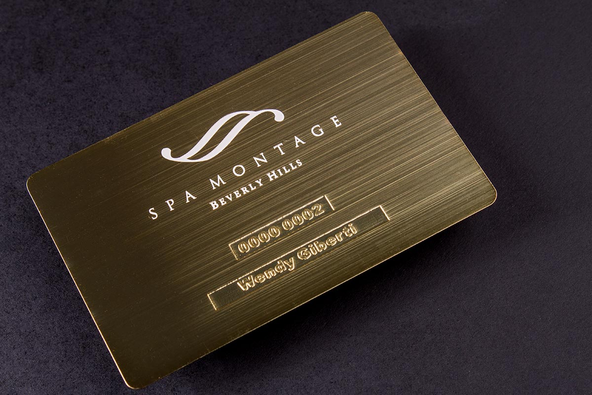 Magnificent metal business card printing images business card gold metal business cards luxury printing reheart Images