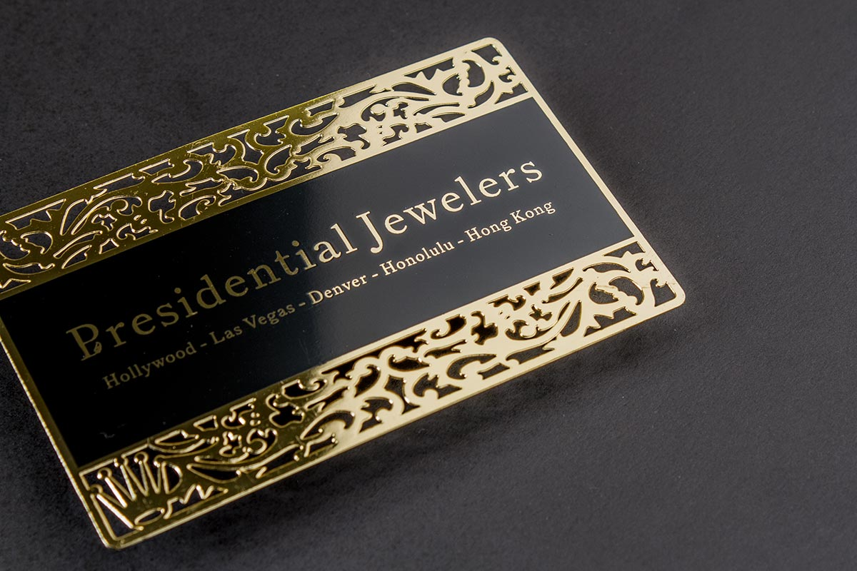 Gold metal business cards luxury printing gold business card dubai luxury printing reheart