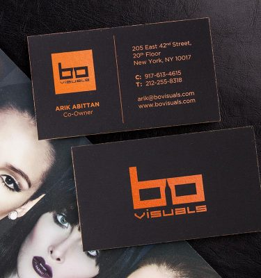 Hard Suede Business Cards | Luxury Printing