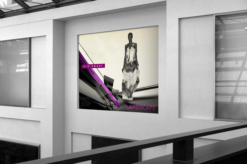 Fashion Poster on Wall Mockup | Luxury Printing
