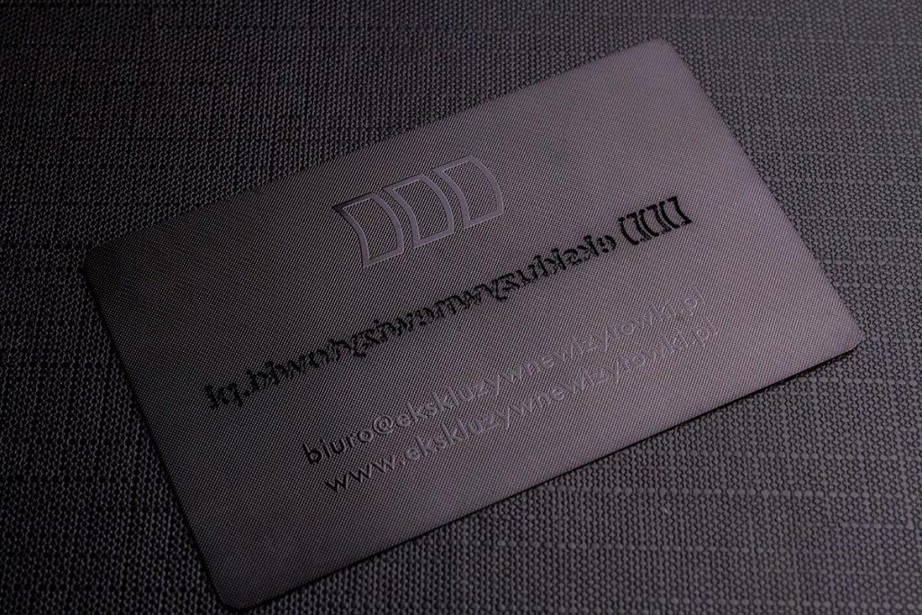 Luxury Black Metal Business Card | Luxury Printing
