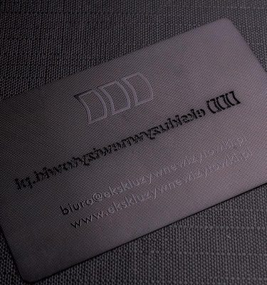 Luxury Black Metal Business Card | Luxury Printing
