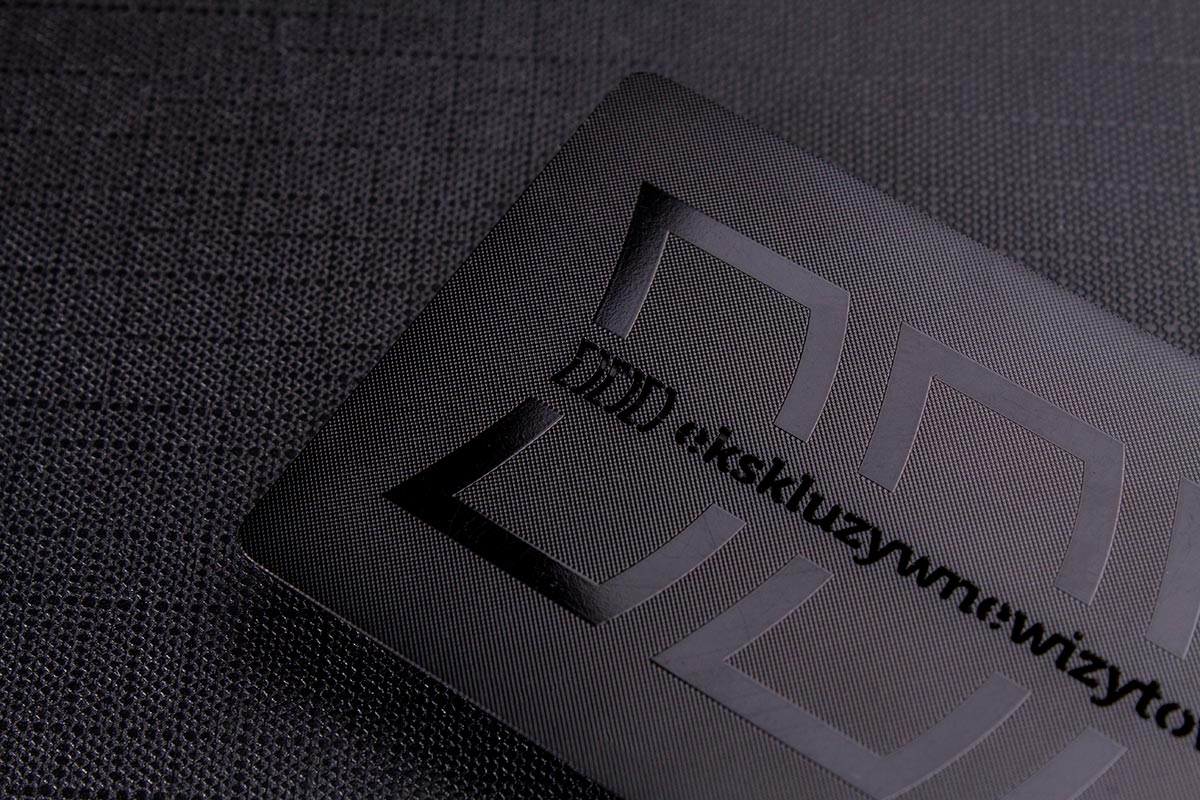 Luxury Black Metal Business Card