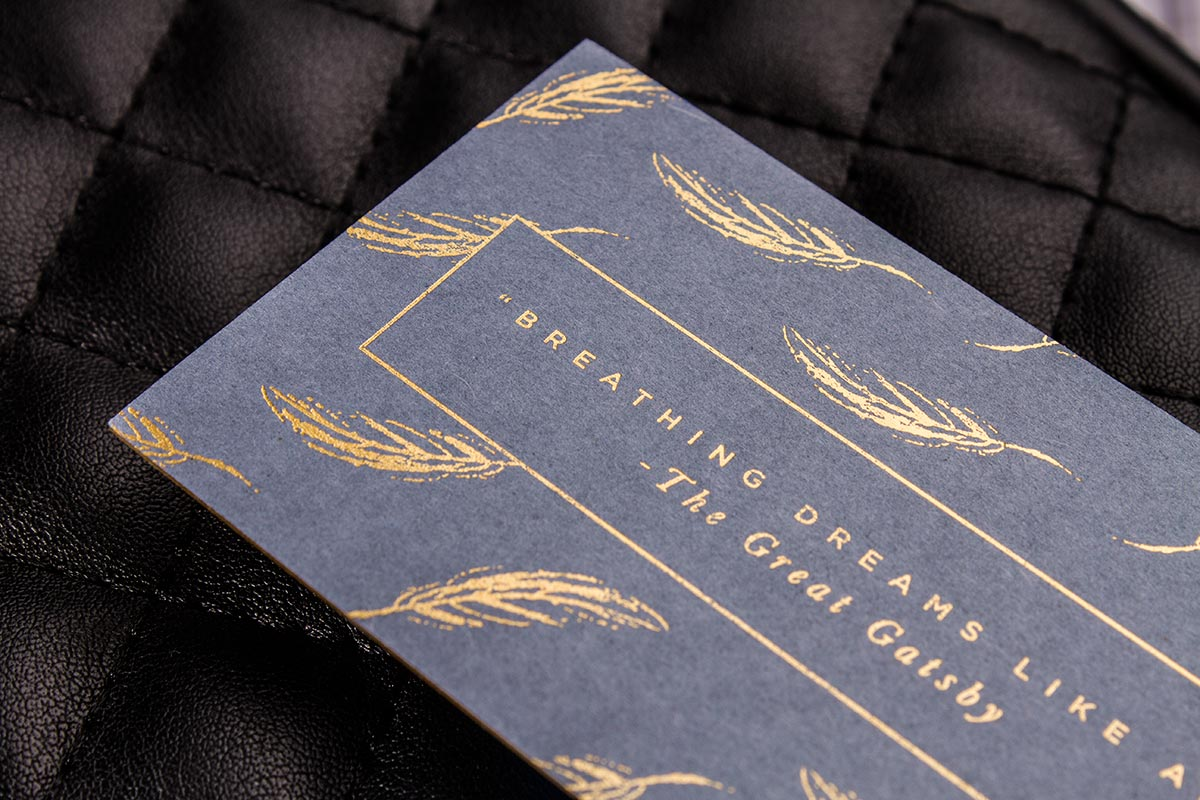 Luxury Printing Smooth Uncoated Business Cards 3.5x2.5