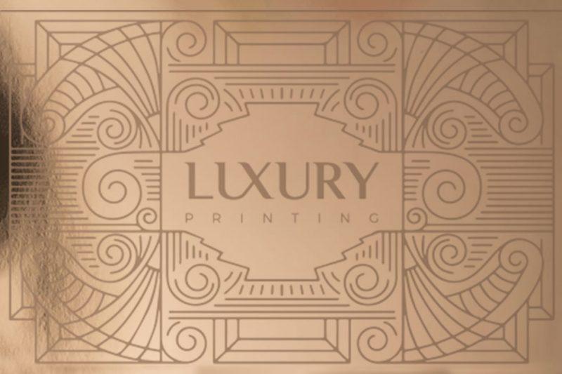 Luxury Card Rose Gold | Luxury Printing