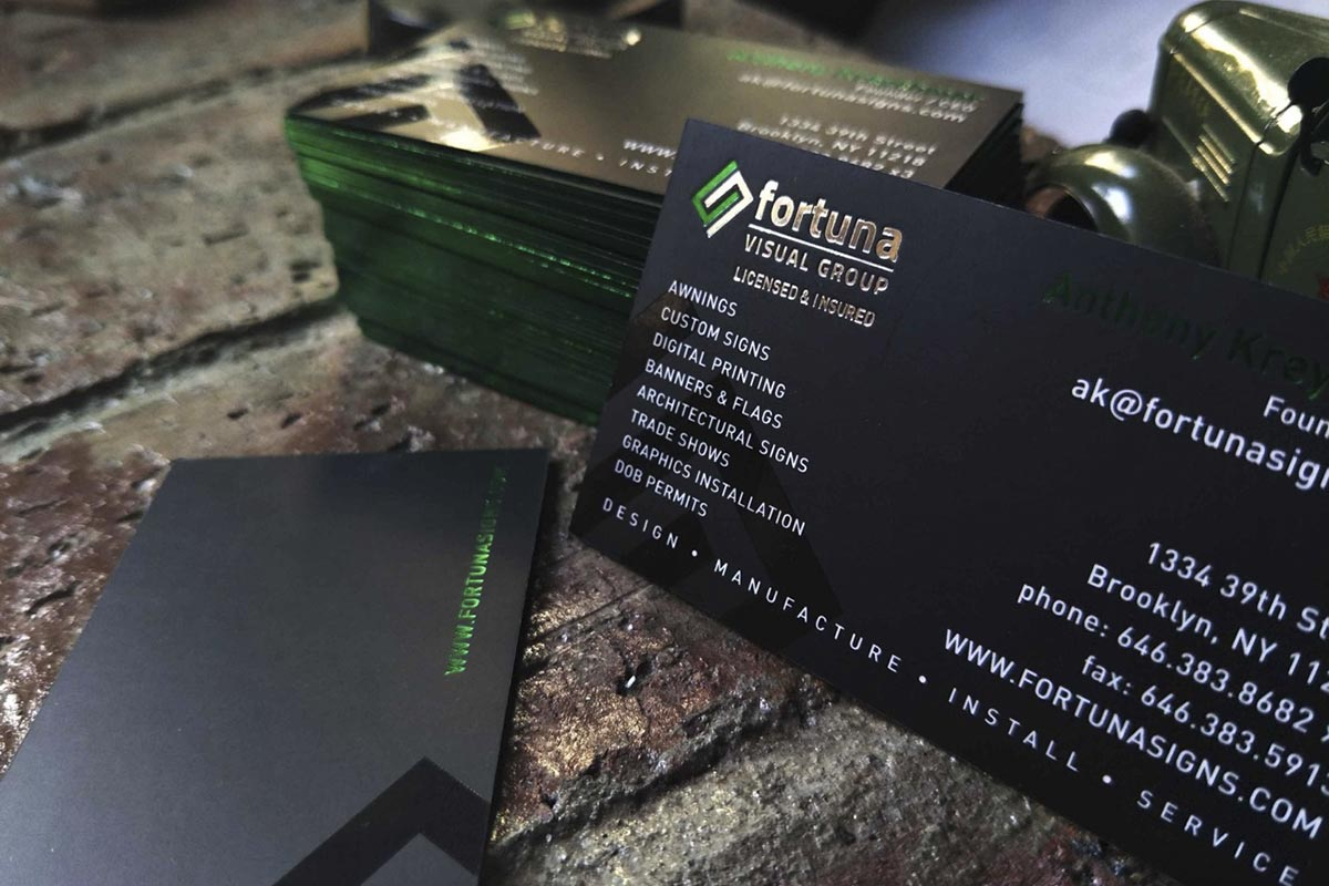 Embossed Business Cards | Printed by Luxury Printing