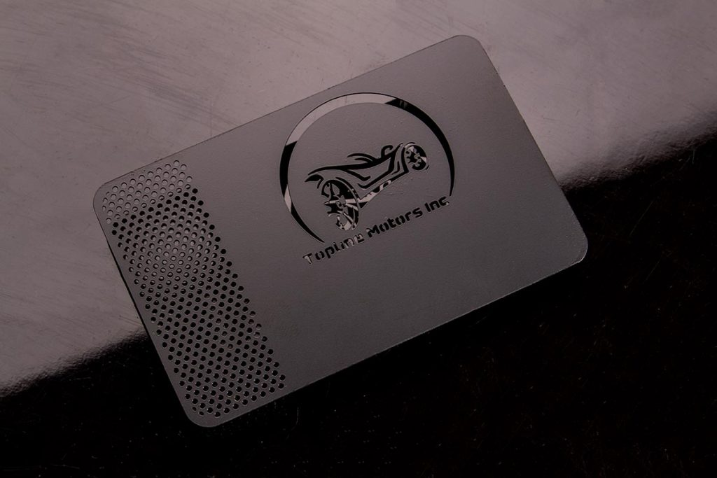 Black Metal Business Cards Engraved | Luxury Printing