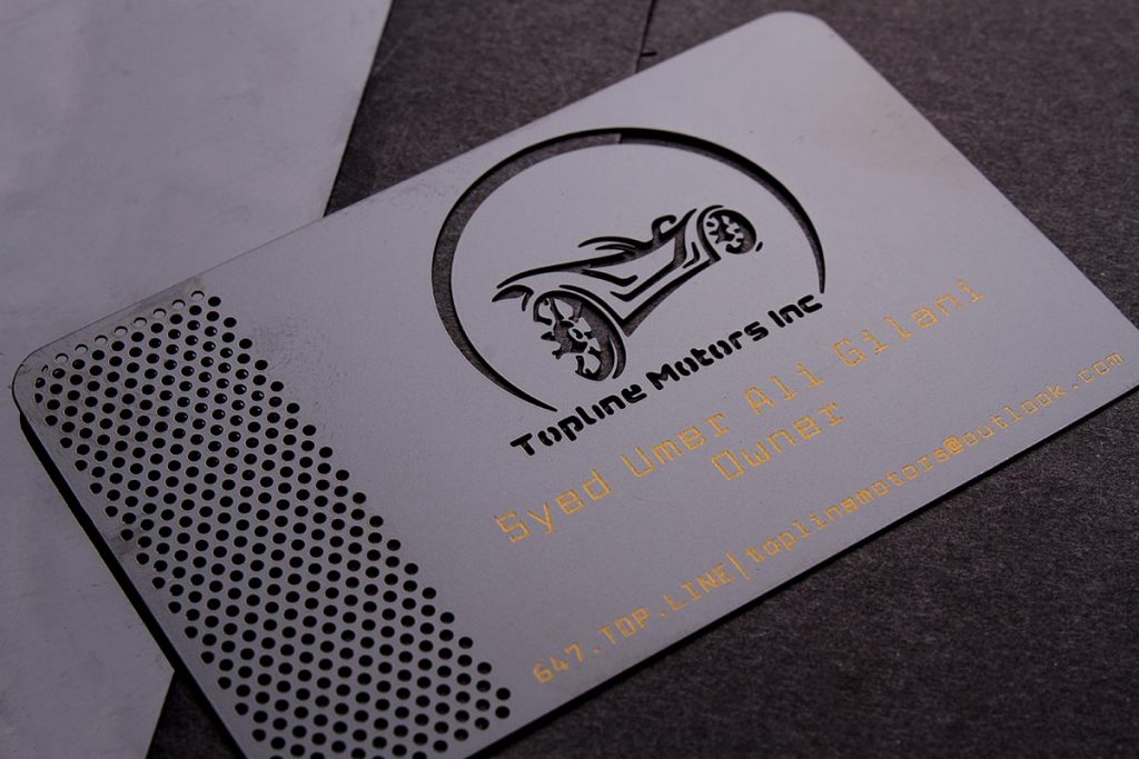 Black Metal Business Cards Spot Color | Luxury Printing