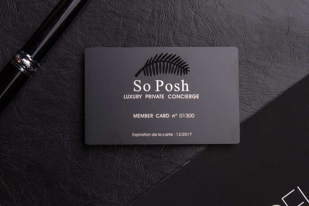 Black Metal Business Cards Edge Foil | Luxury Printing