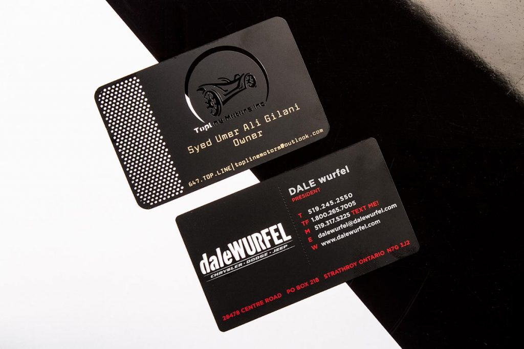 Black Metal Business Cards CNC Milled | Luxury Printing