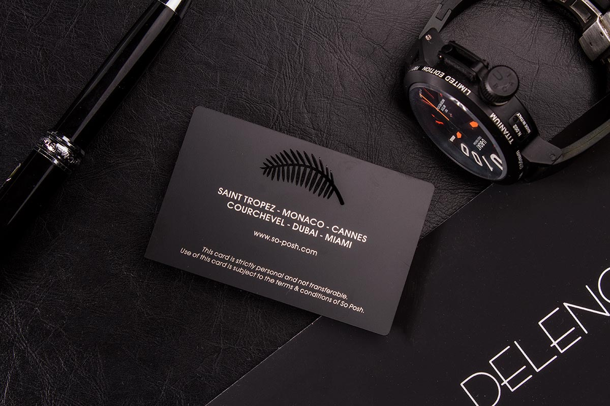 Black Metal Business Cards VIP Designs | Luxury Printing