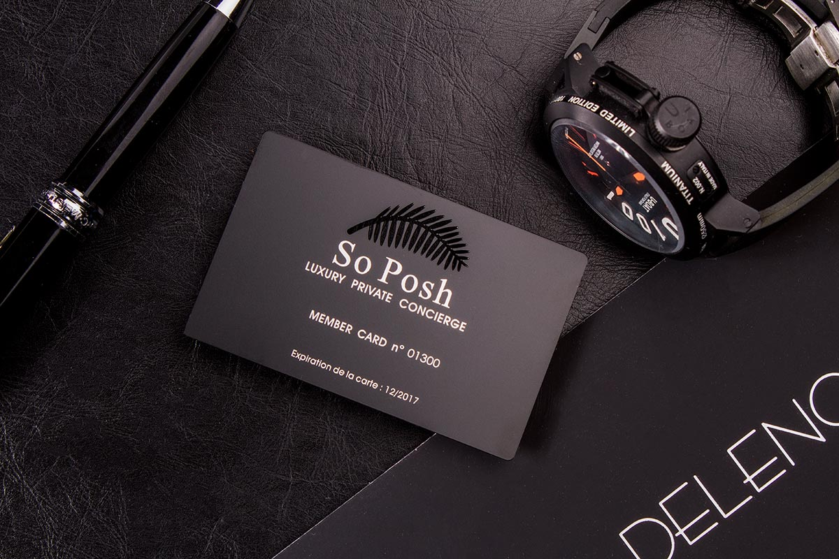 Luxury Black Metal Business Cards | Luxury Printing