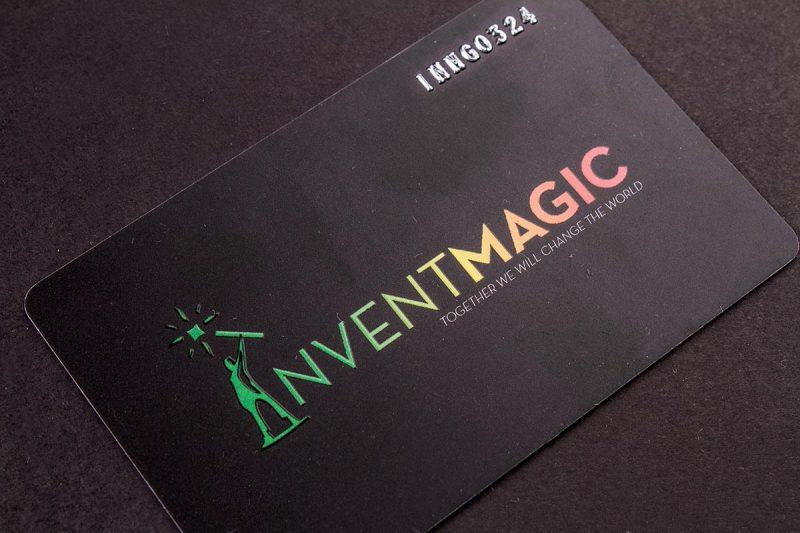 Plastic Business Cards Black   Luxury Printing