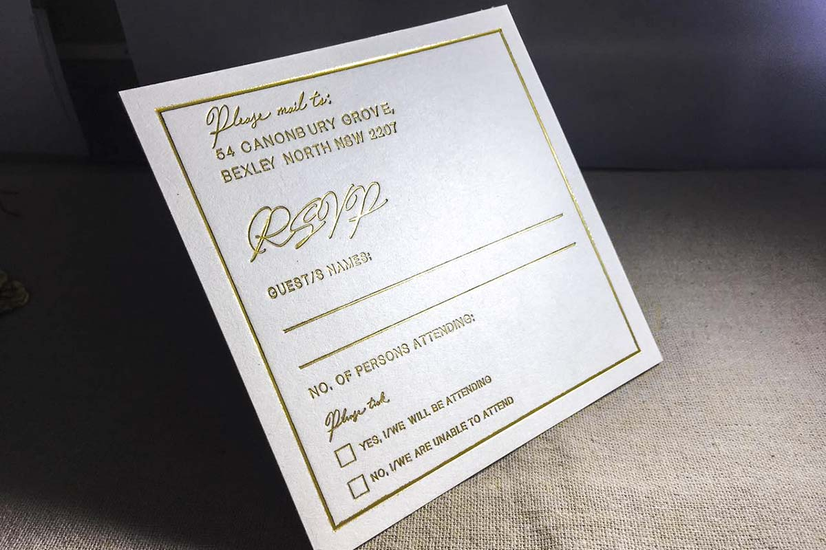 RSVP Cards | Printed by Luxury Printing