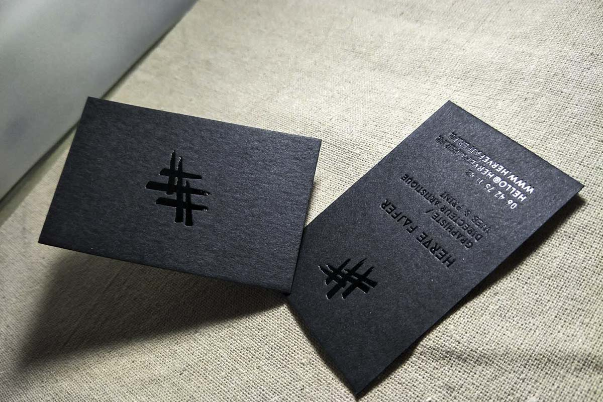 Black Business Cards | Printed by Luxury Printing