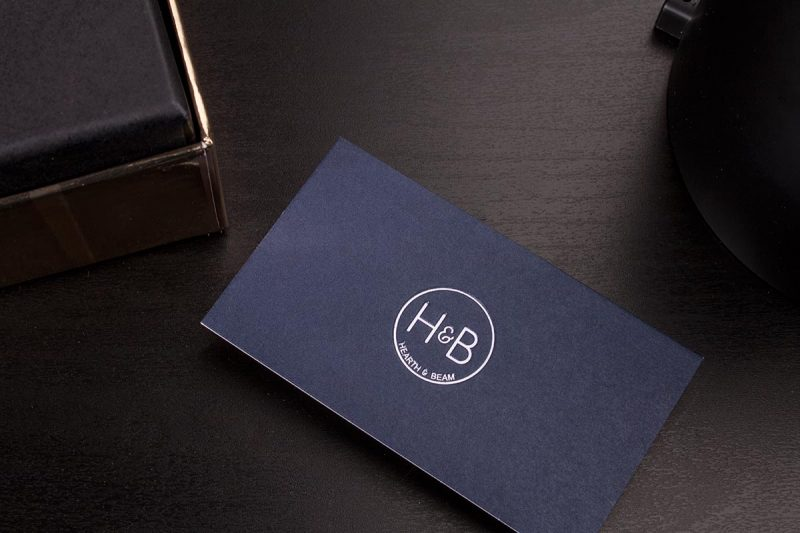 Silk Business Cards Blue | Luxury Printing