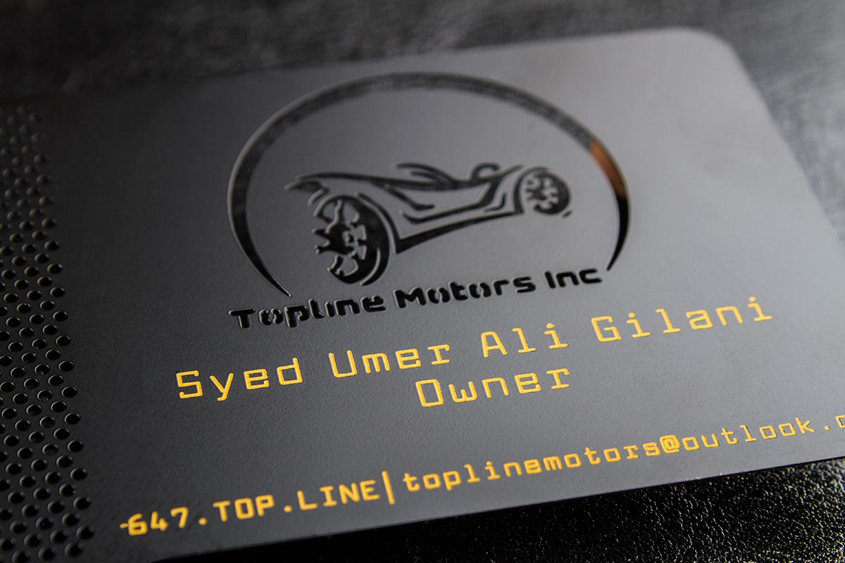 Spot Color Metal Business Card