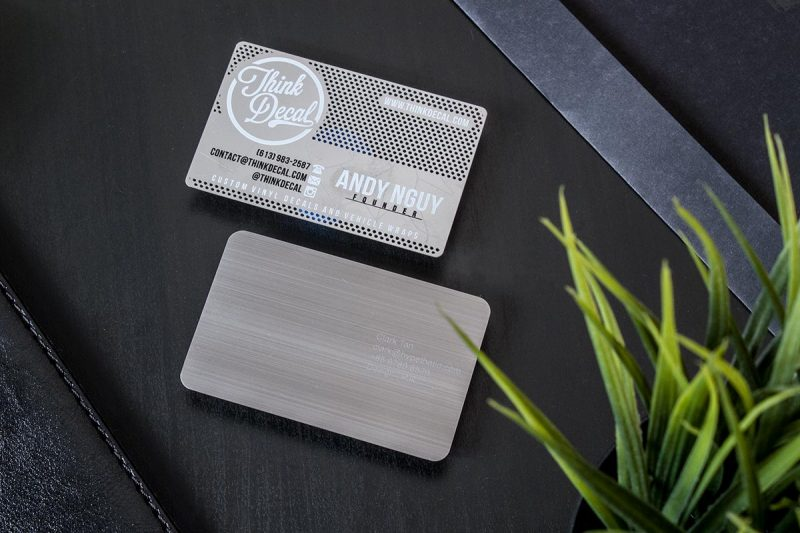 Stainless Steel Business Cards | Luxury Printing