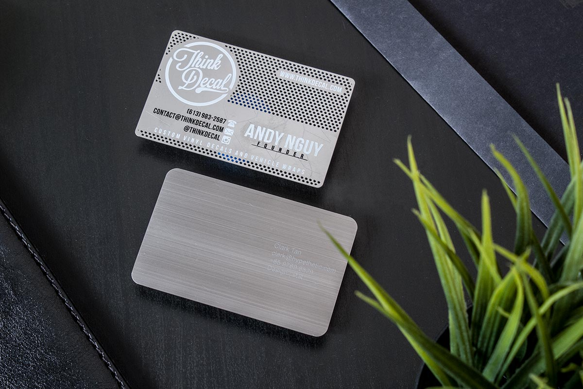 Stainless steel business cards luxury printing colourmoves