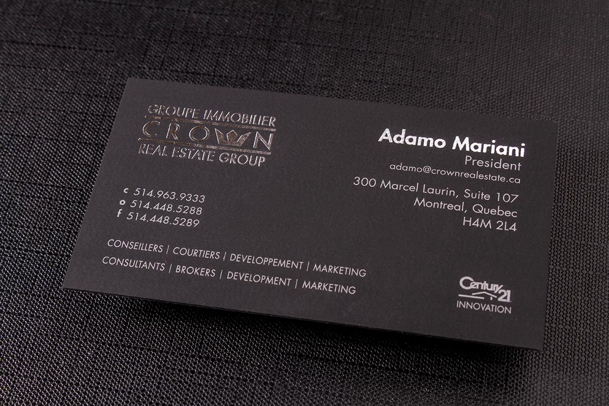 Regular Suede Business Cards | Luxury Printing