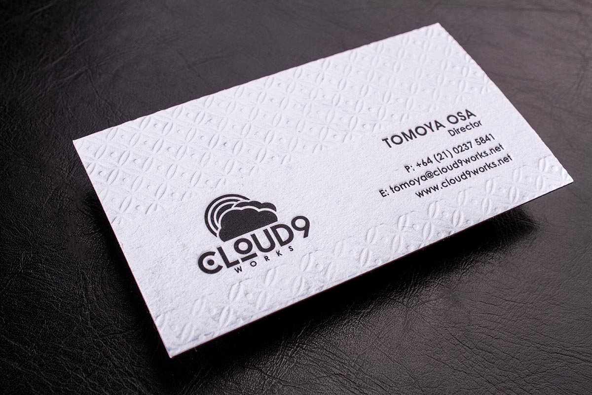 Luxury Printing Letterpress Business Cards 3.5x2.5