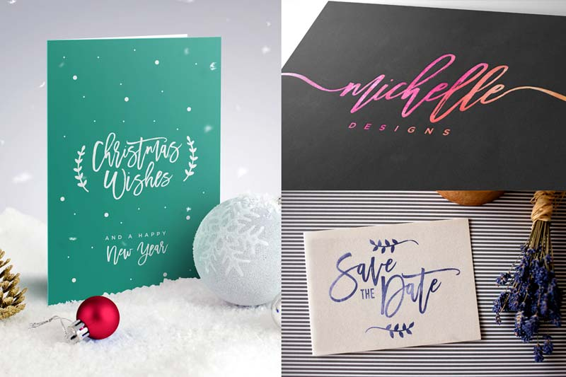 Typography Card Designs | Luxury Printing
